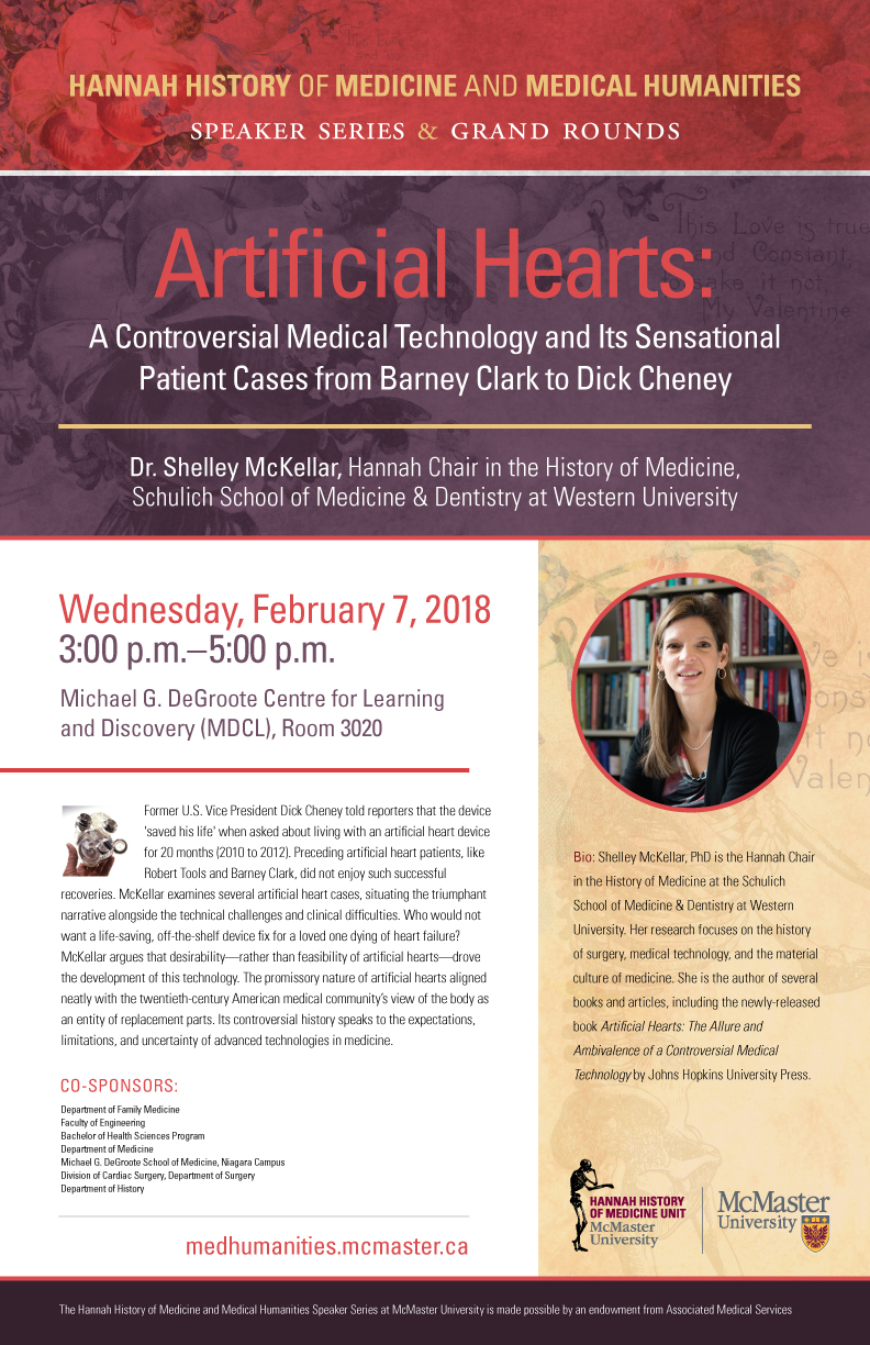 Hannah History of Medicine and Medical Humanities Speaker Series