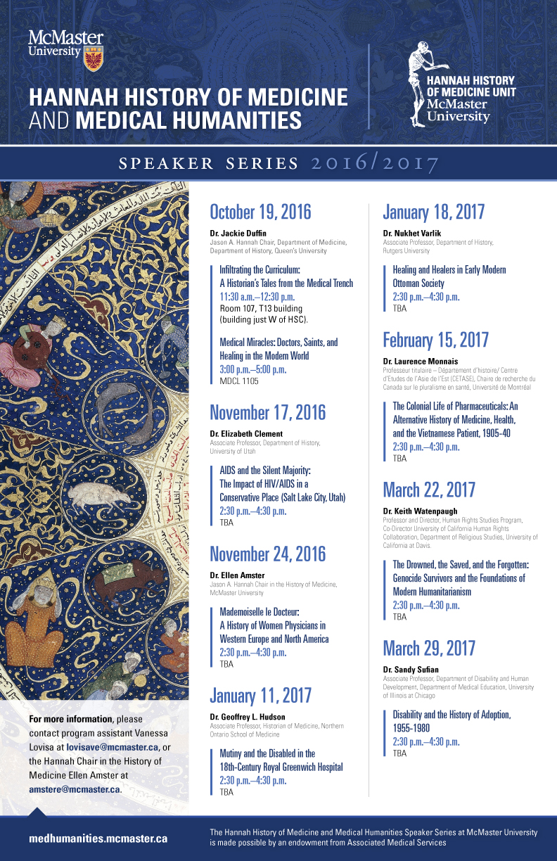 The-Hannah-History-of-Medicine-and-Medical-Humanities-Speaker-Series-11x17-2016